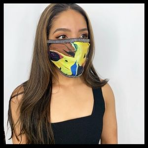 "Fashionable Face Mask - ""Lost Track"" Bedazzle"
